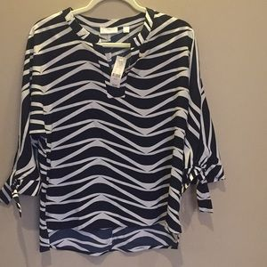 New York & Company black and white top sz S NWT